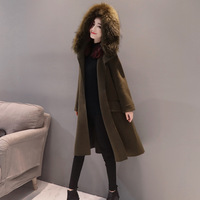 Korean Edition 2017 Autumn Winter Fashion Women New Coat Medium Long High Quality Slim Students Are