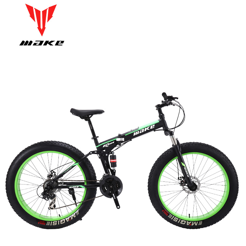 Make Steel Folding Frame, Fatbike 26*4.0 Wheel, 24 Speed SHIMANO