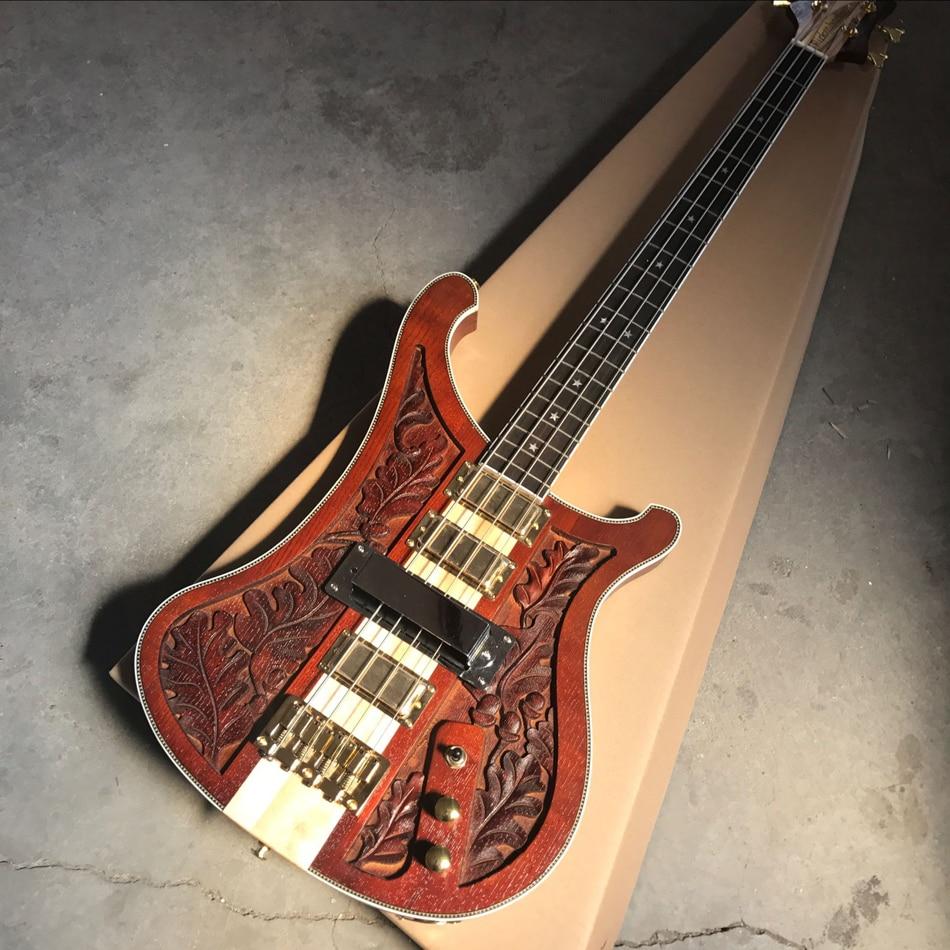 custom shop 4 string bass carving electric guitar bass gold hardware high quality guitar free. Black Bedroom Furniture Sets. Home Design Ideas