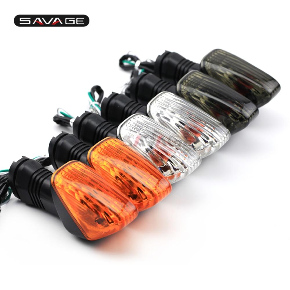 Volta traseira luz de sinal para kawasaki z750 ninja 650 1000 zx6r zx10r zx10rr kle 500 acessórios da motocicleta indicador sinal lâmpada