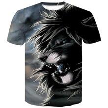 Newest Wolf 3D Print Animal lion Cool Funny T-Shirt Mens Short Sleeve Summer Tops T Shirt tShirts Male Fashion T-shirt men  4XL цены