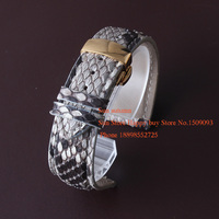 Snake Leather Watch Band Watchband Fit Fashion Dress Watches Famale Male Genuine Leather Quartz Watch Band