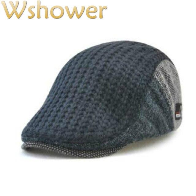 fb4ff7b68f43b Sombrero de boina de punto cálido de otoño invierno estilo inglés gris café  negro JAMONT gorra