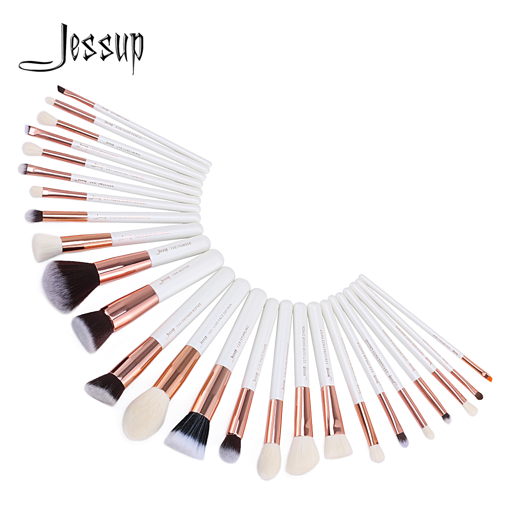 Jessup Brushes 25pcs Professional Makeup Brushes Set Makeup Brush Tools kit Foundation Powder Blushes T215 147 pcs portable professional watch repair tool kit set solid hammer spring bar remover watchmaker tools watch adjustment