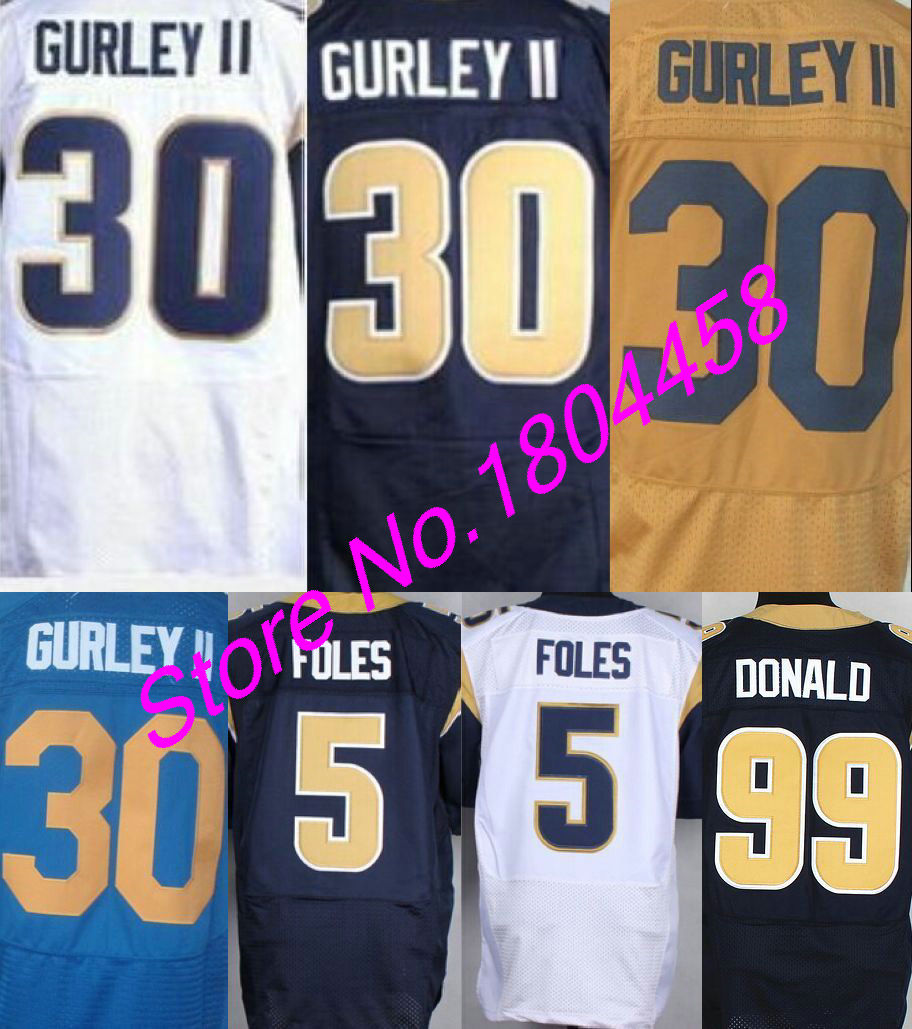 info for 02e03 5643f 100% stitched mens #30 Todd Gurley II Jersey #5 Nick Foles ...