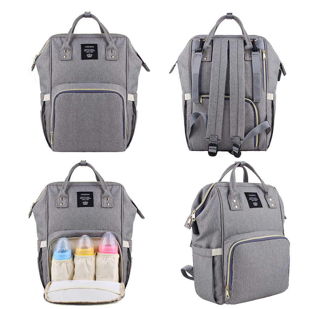 3004fa0875 ... 2019 Lequeen USB Waterproof Diaper Baby Bag Backpack Maternity Fashion Mummy  Travel Nappy Bags Large Capacity ...