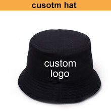 Fabbrica OEM! Costo di trasporto libero! Cappello della benna del cappello personalizzato su misura logo cusom del cappello di pesca di rendere il vostro logo o pieno di stampa