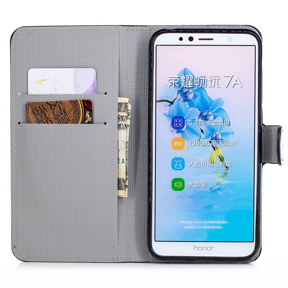 99db3149785 Caso de la cubierta del portatarjetas para Huawei Y6 Y6 II Y6 2017 caso Pu  cuero