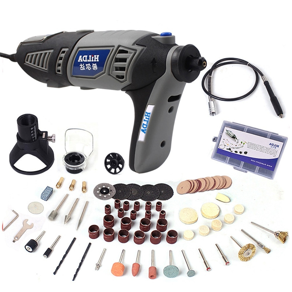220V 180W Electric Mini Drill Set Rotary Tool Kit Variable Speed Engraver Electric Polishing Set Grinder