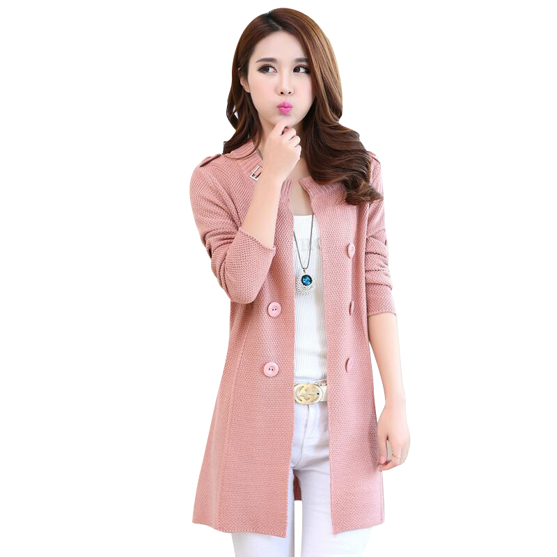 2018 New Autumn Spring Women Sweater Cardigans Casual Warm Long Design Female Knitted Coat Cardigan Sweater Lady Fashion