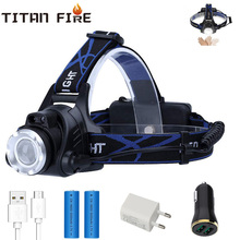 T20 Dropshipping LED Headlamp USB Rechargeable  IR Motion Sensor Headlight Front Light Control Waterproof Fishing Camping