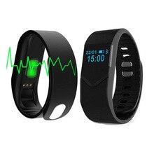 Топ предложения Фитнес спортивный смарт-браслет Bluetooth V4.0 IP68 Водонепроницаемый сердечного ритма Мониторы черный