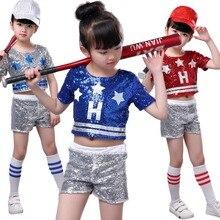 8117f81987a8b Chica Jazz niños jazz moderno trajes niño hip hop de trajes de baile para  las niñas niño trajes de teatro para niños top + Panta.