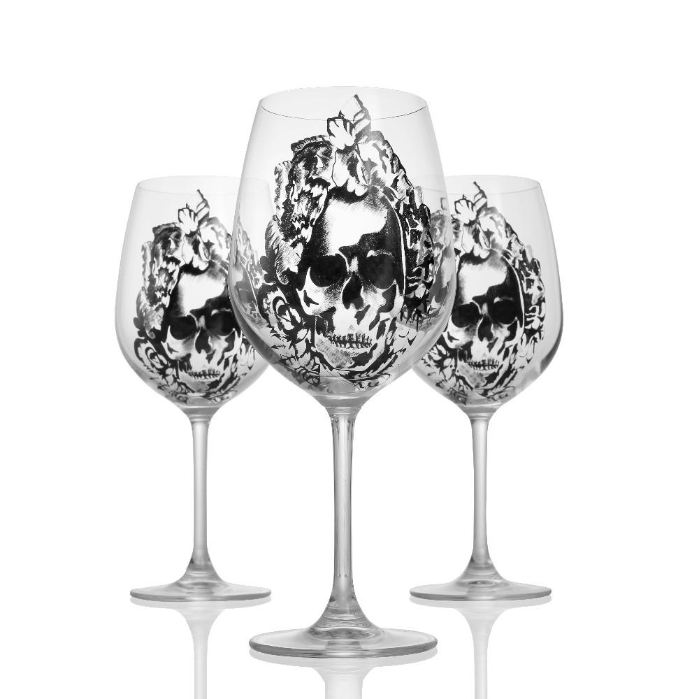 Aukštos kokybės krištolo vyno taurė su deimantų taurele - Virtuvė, valgomasis ir baras - Nuotrauka 6