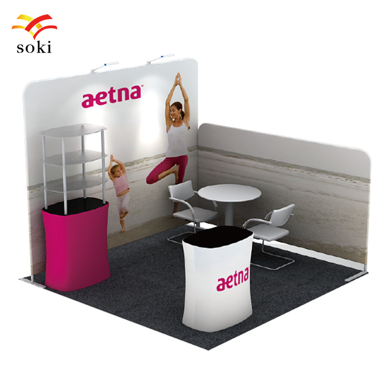 Exhibition Booth Counter : Exhibition booth system design pop uptension fabric trade