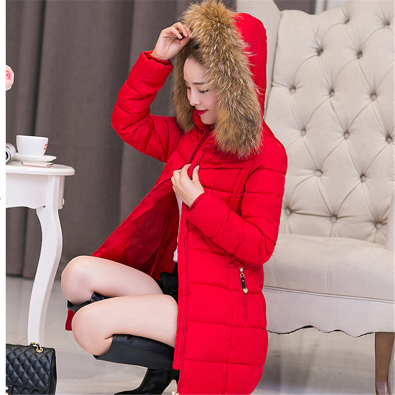 2016 fashion women coat winter sown thick full sleeve cotton zippers button warm slim coat