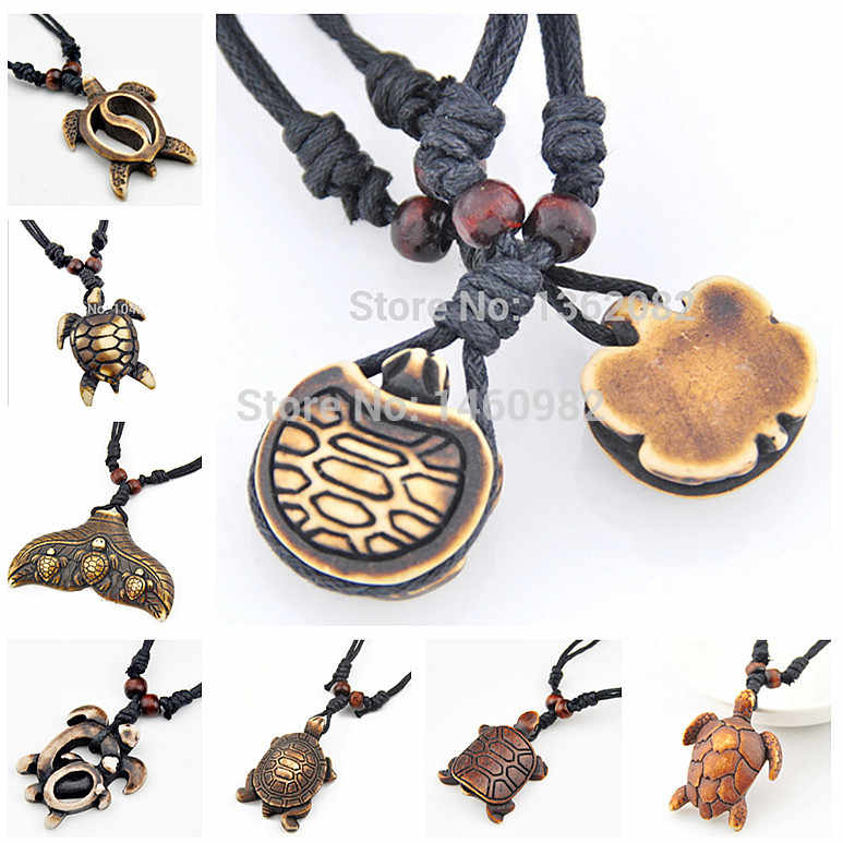 Men Women S Fashion Jewelry Imitation Yak Bone Carving Tribal Hawaii Surfer Turtles Necklace Charms Pendant Choker Gift Pendant Craft Pendant Loversgift Box Wholesale Uk Aliexpress