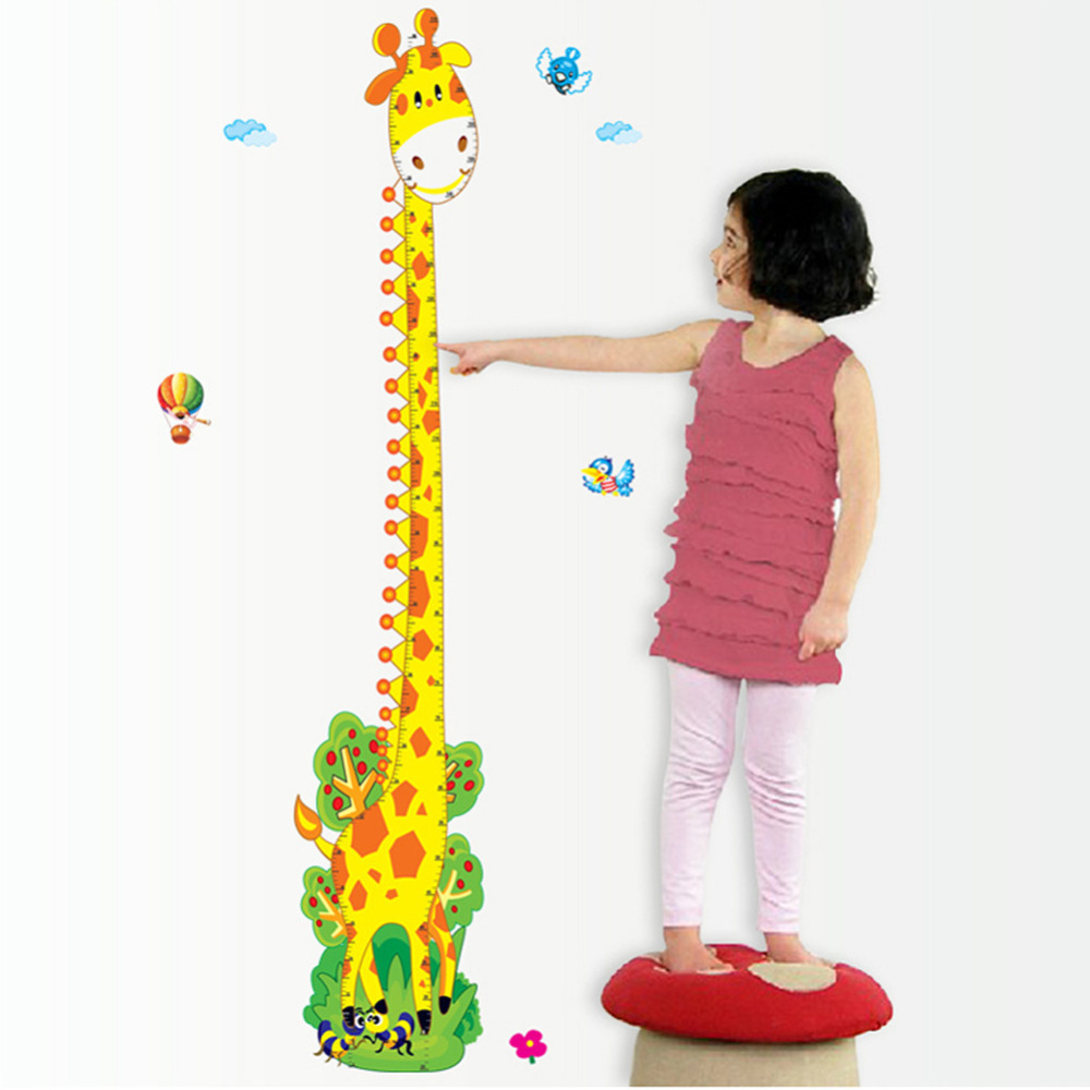 Cartoon cute giraffe kids height growth charts wall stickers pvc cartoon cute giraffe kids height growth charts wall stickers pvc removable children room art decor decal in wall stickers from home garden on geenschuldenfo Image collections