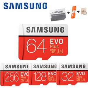 Карта памяти SAMSUNG Micro SD cartao sd, 32 ГБ, 64 ГБ, класс 10, 128 ГБ, microSDXC U3, UHS-I, 256 ГБ, TF-карта HD для смартфонов и планшетов и т. Д.