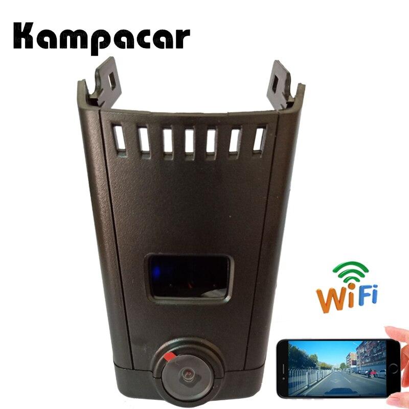 Kampacar 2 Voiture Wifi Vidéo caméra dashcam Pour BMW 5 G30 G31 G38 530e 520d 6 G32 7 Série G11 G12 2017 2018 2019 HD dvr de voiture
