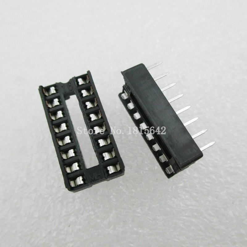 20-pCs-lote-16-pin-dip-tipo-sip-ic-sockets-adaptor-solda-narrow-ic-soquete
