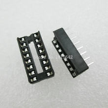 20 PÇS/LOTE 16 Pin DIP Tipo SIP IC Sockets Adaptor Solda Narrow ic soquete