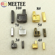 Meetee 3# 5# 8# 10# 10sets Single Open Slider Plug Accessories ZA206 Insert Box Pin Retainer for Metal Zipper Replacement Kit