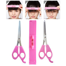 Hot 3 Pcs Hair Tools Bangs Hair Clip Trimmer Clipper Hand Cut Bangs Cutter Tool SJ66(China)