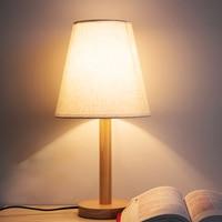 Desk lamp Bedroom Bedside Lamp Adjustable Light Night Light Sweet Creative Wood Small Desk Lamp
