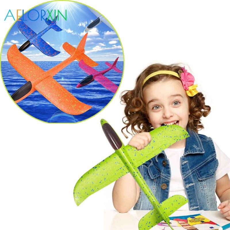 48cm Throwing Foam Palne Kitesurfing EPP Airplane Flying Model Plane Glider Aircraft Model Outdoor DIY Educational Toys Cometa