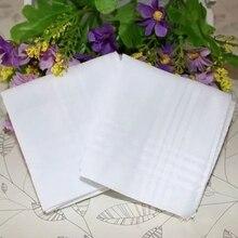 5 шт. чисто белые носовые платки хлопок носовые платки для женщин и мужчин 40 см* 40 см Свадебный квадратный Карманный Простой DIY печать рисовать hankies