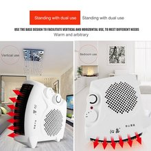 Mini Portable Electric Heater Bathroom Warm Air Blower Fan Home Heater Adjustable Thermostat 800W for Household Use US Plug
