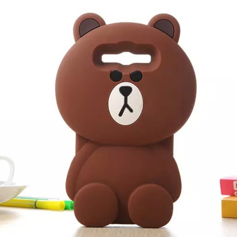 Cute 3D Cartoon Bear Soft Silicone Phone Case Cover for Samsung Galaxy 2015 J1 J2 J3 J5 J7 A5 A7 A8 2016 J120 J310 J510 J710