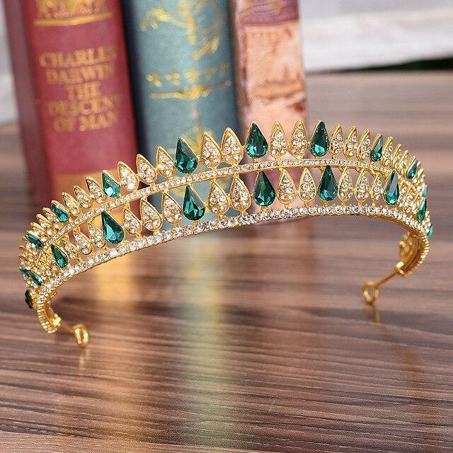 DIEZI 5 Color Korean Luxury Crown Bridal Wedding Hair Accessories Crystal Crowns Tiaras Diadem Girls Headpiece Headbands