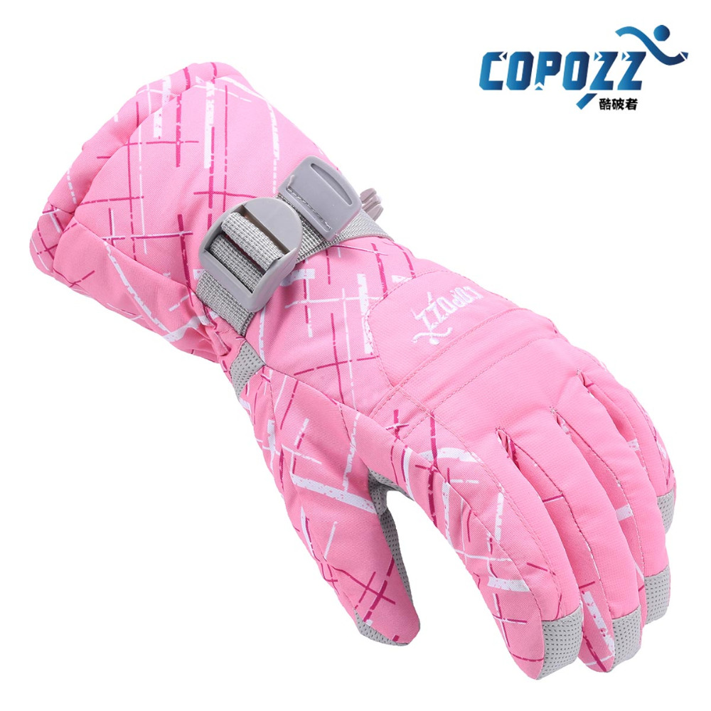 Copozz Women Skiing TPU Motorcycle Riding Waterproof Ski Gloves Winter Warm Thick Snow glove Snowboard Gloves free shipping