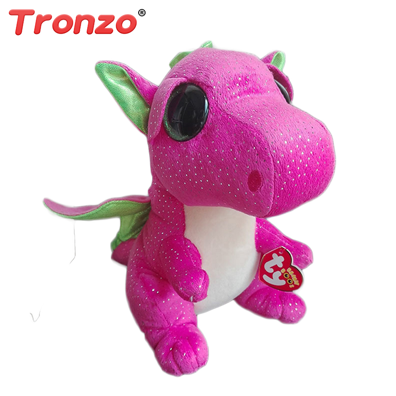Tronzo Ty Beanie Boos Gray Cat Plush Toy Doll Baby Girl Stuffed Plush Animals 15cm Big Eyes Stuffed Animals Plush Christmas Gift ynynoo hot ty beanie boos big eyes small unicorn plush toy doll kawaii stuffed animals collection lovely children s gifts lc0067