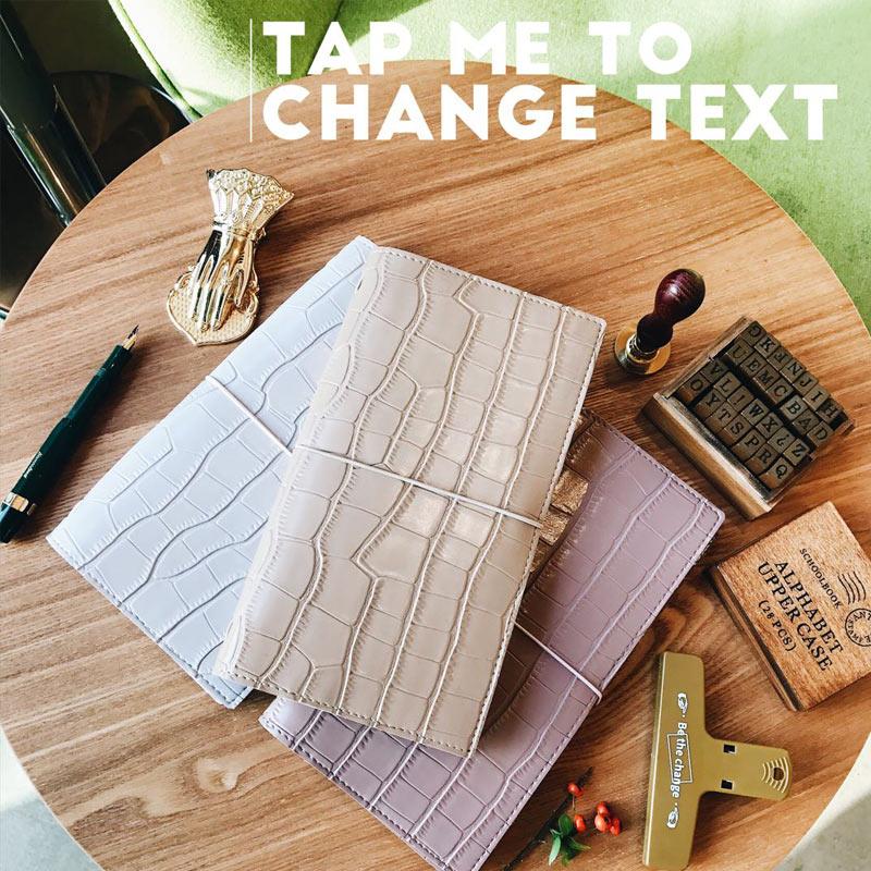 2019 Yiwi Original PU Crocodile Pattern TN Planner Standard Diary Travel Notebook