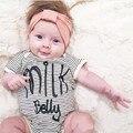 2016 ins menina meninos macacão listrado moda carta new born roupa do bebê de algodão crianças romper do bebê recém-nascido roupa infantil bebe geral