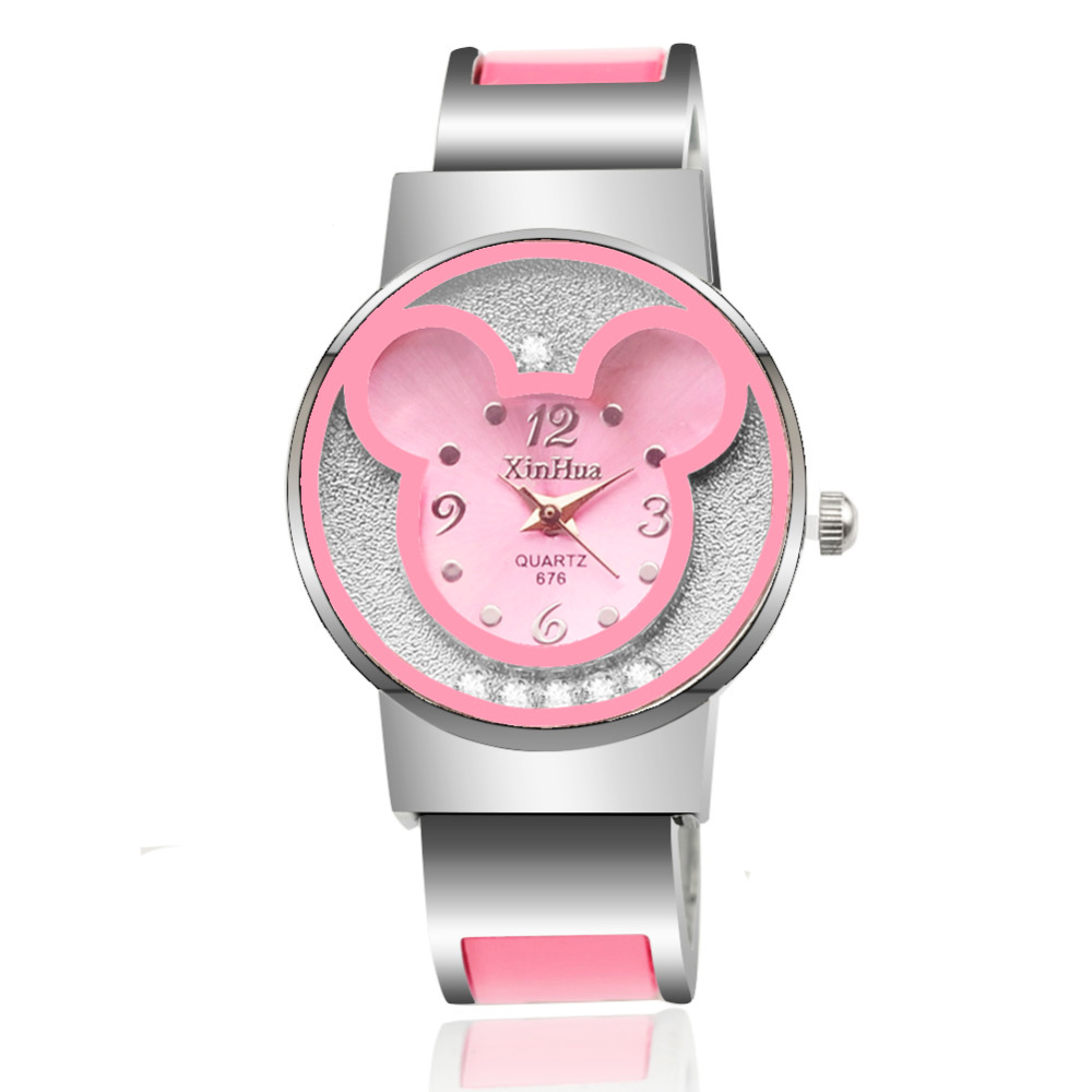 Watches Women Mickey Mouse Stainless Steel Women Watches Clock Ladies Watch Relojes Mujer Montre Femme Zegarek Damski 2019 Saati(China)