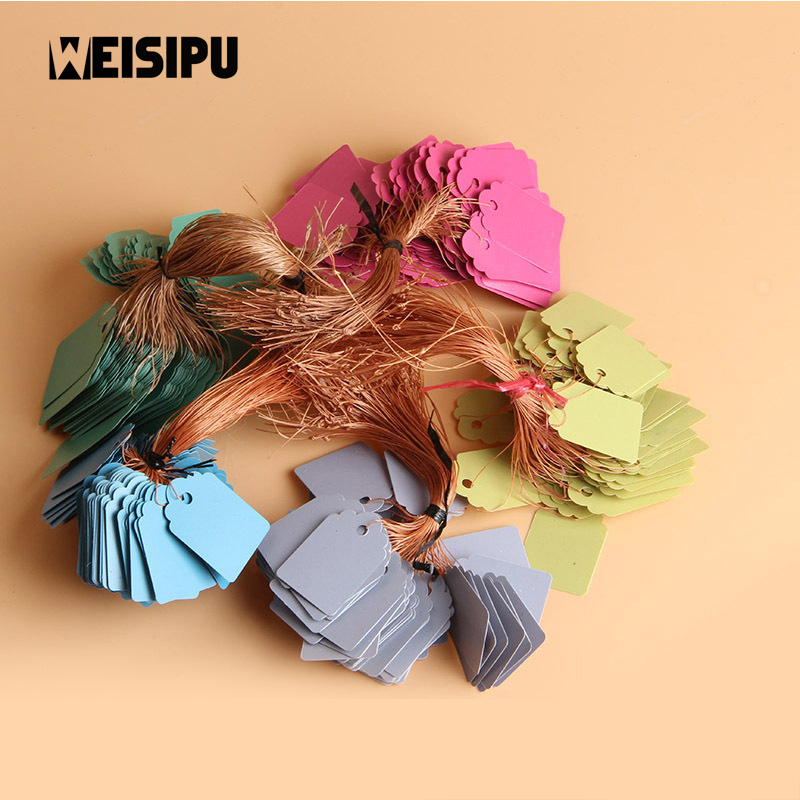 WEISIPU 100pcs/lot PVC Waterproof Strip Line Gardening Labels Signs Plant Hanging Tags H ...