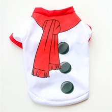 Фотография Christmas Dog Clothes for Dogs Coats Snowman Chihuahua Winter Dog Christmas Costume Pet Clothes Warm Pet Cat Coat Clothing