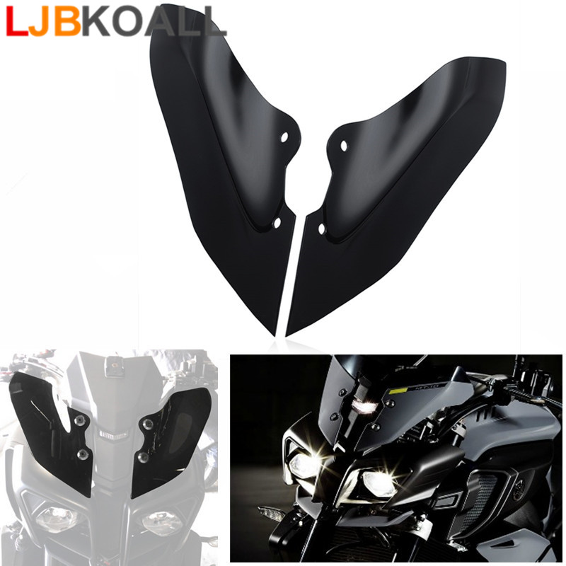 For Yamaha MT 10 MT10 FZ 10 FZ10 2016 2017 Motorcycle Accessories Upper Headlight Side Panel Cowling Fairing Cover Protector Blk