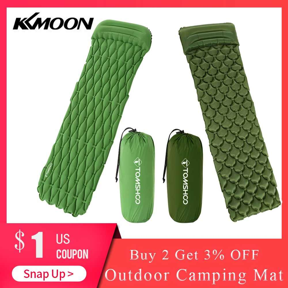 TOMSHOO Camping Mat Ultralight Inflatable Sleeping Pad Mattress with Pillow for Outdoor Camping Hiking Backpacking Travel