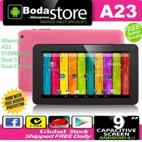 Free Shipping NEW 9 inch Dual Core CPU Android 4.2 DDR Q88 8GB NAND Flash A23 Bluetooth WIFI Dual Cameras 9 inch tablet pc Pink