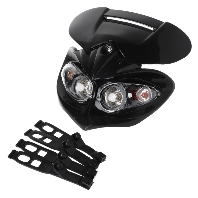Universal Motocross Headlight Fairing Head Lamp High / Low Beam