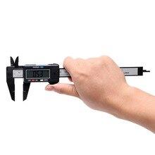 150 мм 6 дюймов ЖК цифровой Электронный штангенциркуль из углеродного волокна Калибр микрометр измерительный инструмент черный