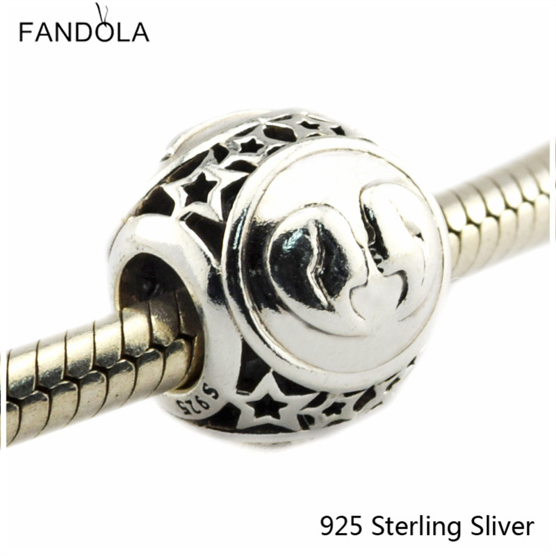 Gemini Star Sign 925 Sterling Silver Charm Beads Fits For Pandora Bracelet Charms for DIY Fine Jewelry