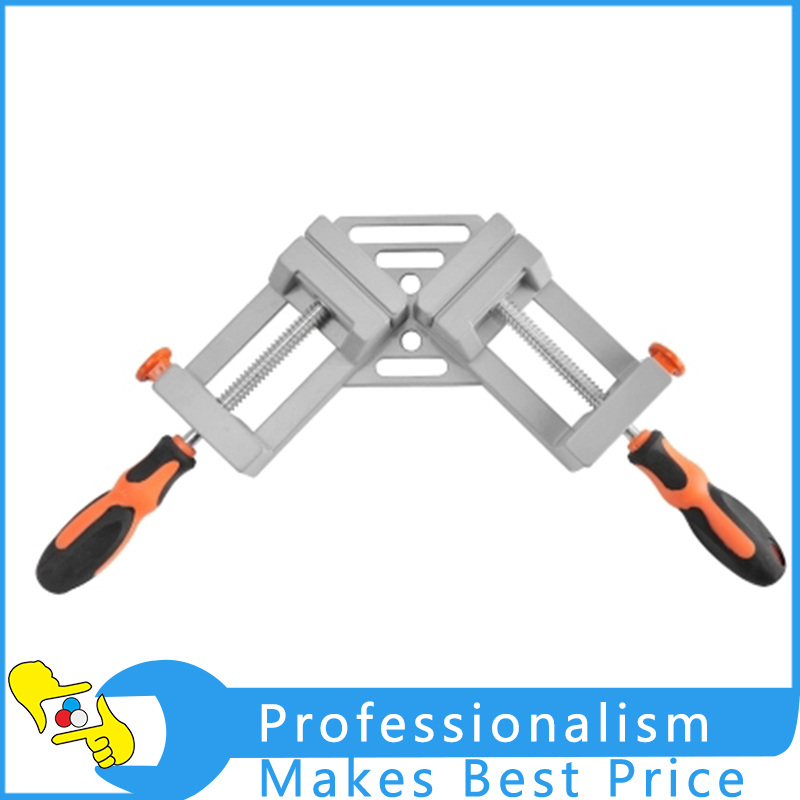 Double 90 Degrees Right Angle Folder Woodworking Welding Locator Frame Folder Fast Angle Folder ninth world new single handlealuminum 90 degree right angle clamp angle clamp woodworking frame clip right angle folder tool