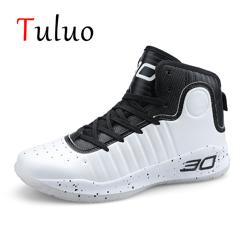 TULUO High top Basketball Shoes Men Outdoor Cushioning ...