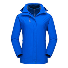 Fashion Simple autumn and winter new fleece three-in-one jacket outdoor couple models two-piece fleece mountaineering suit pelliot outdoor jackets women s tide brand jacket three in one thickening fleece two piece mountaineering clothing female jacket
